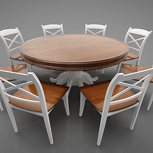 簡約圓餐桌模型