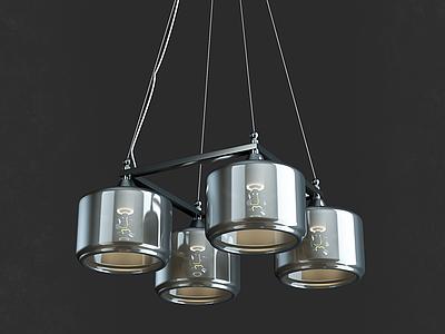 3d創意餐廳吊燈模型