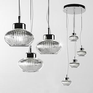 現代時尚藝術吊燈模型