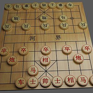 3d中国象棋模型