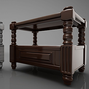 床頭柜模型
