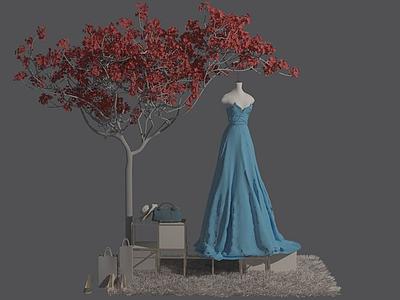 禮服模型3d模型