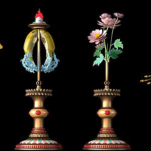 藏族吉祥八寶扎西達杰模型