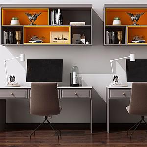 書桌椅模型