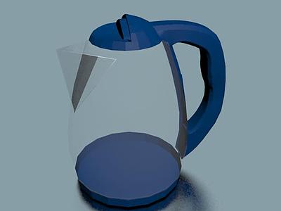 3d現代泡茶塑料壺免費模型