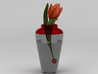 郁金香插花裝飾模型3d模型