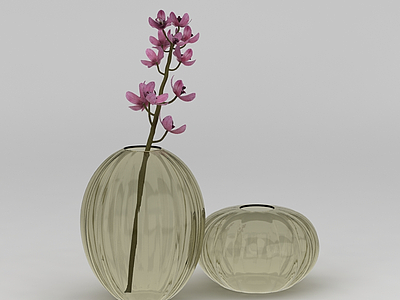 現代蘭花插花裝飾模型3d模型