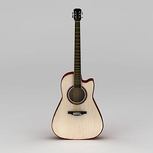 白橡木民謠吉他模型