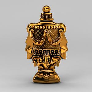 欧式豪华金色雕花模型