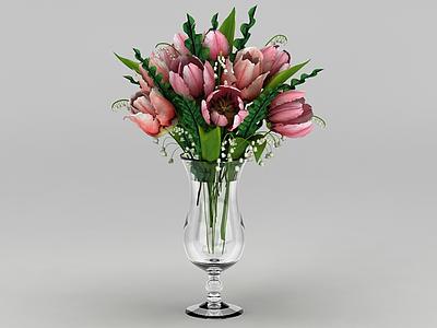 鮮花插花裝飾品模型3d模型