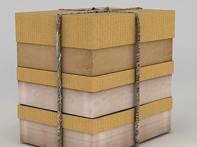 3d生活用品包裝盒模型