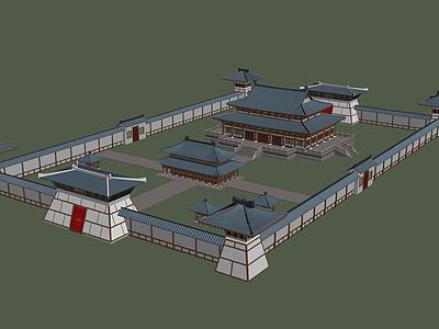 3d淮南王宮模型