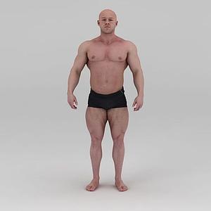 影視級健美先生肌肉男模型