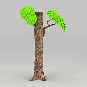 3d卡通樹模型