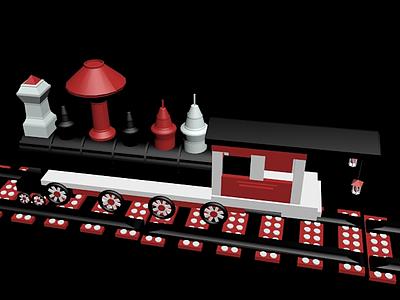 3d玩具<font class='myIsRed'>火車</font>模型