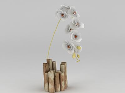 現代蘭花插花模型3d模型