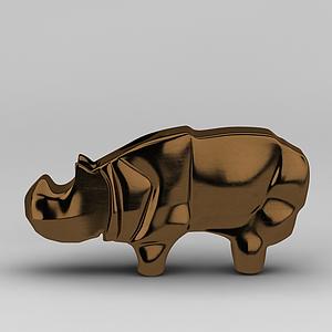 3d<font class='myIsRed'>犀牛</font>裝飾品模型