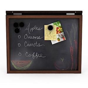 菜單小黑板模型
