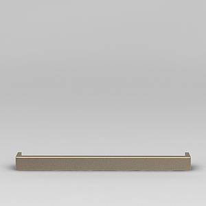3d玫瑰金簡單門拉手模型