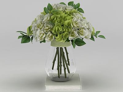 現代裝飾花束插花模型3d模型