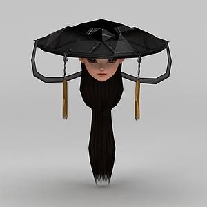 劍網三游戲人物古裝發飾發型模型
