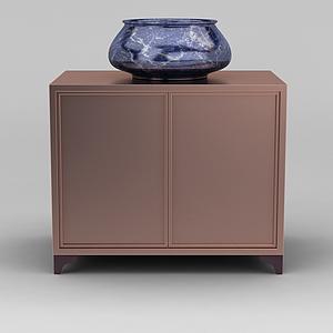 現代時尚陶瓷水盆模型