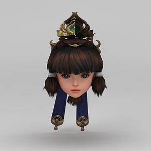 劍網三女孩發型模型