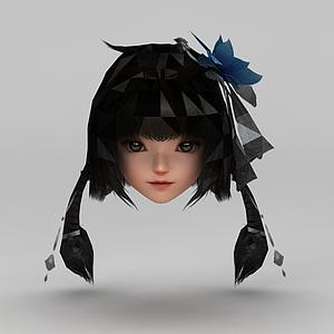 劍網三女子發型配飾模型