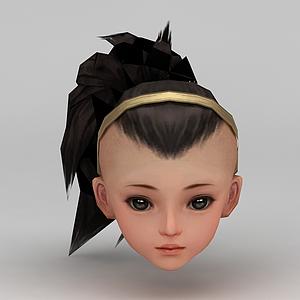 劍網三游戲人物發型發飾模型