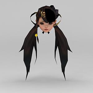 劍網三游戲發飾裝飾品模型