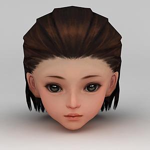 劍網三女孩發飾發型模型