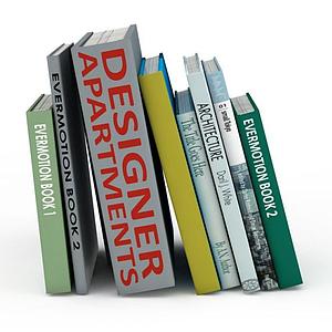 書架上的書籍模型