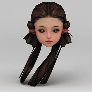 劍網三游戲人物發型發飾女孩發型模型