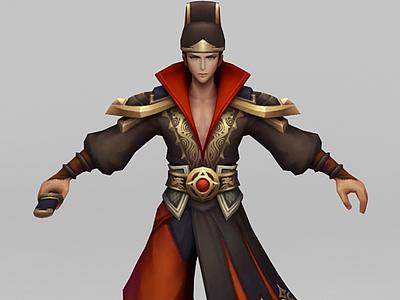 3d<font class='myIsRed'>王者榮耀人物</font>角色男模型