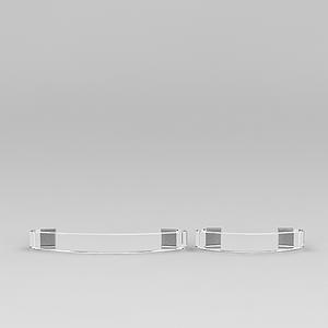 3d水晶透明門<font class='myIsRed'>把手</font>模型