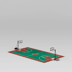 3d<font class='myIsRed'>籃球場</font>模型