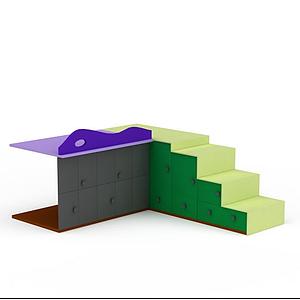 3d帶儲物<font class='myIsRed'>兒童床</font>模型