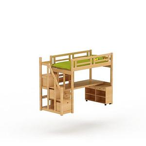 3d實木<font class='myIsRed'>兒童床</font>模型