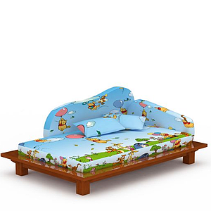 3d現代<font class='myIsRed'>兒童床</font>模型