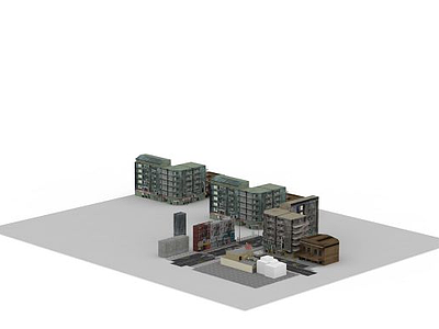 3d城市場景建筑模型
