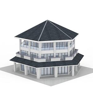 3d六角屋模型