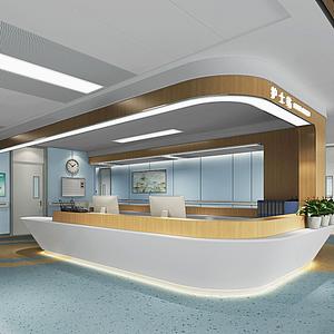 現代醫院護士站模型