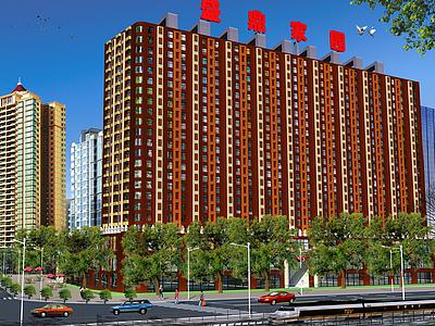3d建筑大樓模型