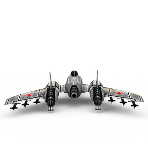 3d紅色警戒蘇聯<font class='myIsRed'>飛機</font>游戲裝備模型