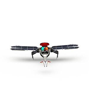 3d紅色警戒游戲裝備<font class='myIsRed'>飛機</font>模型