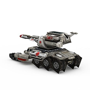 3d紅色警戒<font class='myIsRed'>坦克</font>游戲裝備模型