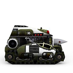 3d紅色警戒蘇聯<font class='myIsRed'>坦克</font>模型