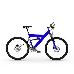 藍色自行車模型