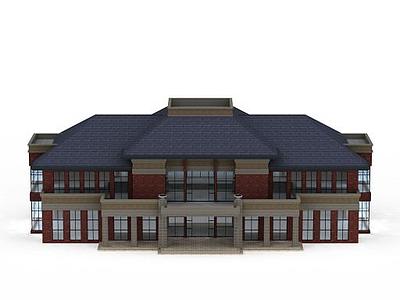 3d現代會所建筑模型