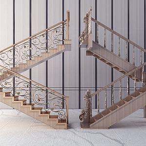 樓梯欄桿模型
